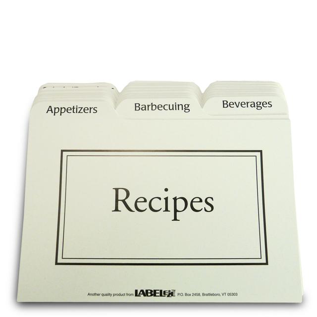 Recipe Cards And Box 4x6 Recipe Box Tabbed Recipe