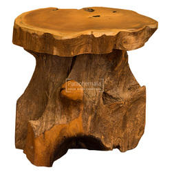java teak root trunk table