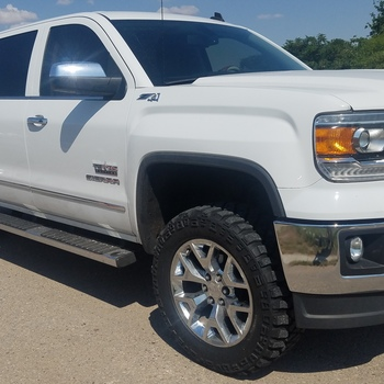 2014 gmc sierra lifted white. 35in gm suspension lift kit wupper control arms 0716 1500 2014 gmc sierra lifted white