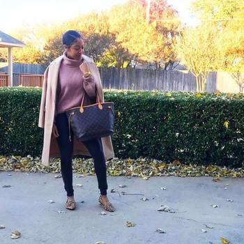 32f1504a30f This mauve oversized sweater is a new favorite of mine. And I snagged it on