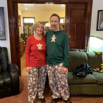 b6959f4ceb Pajama party Christmas morning with family❤️