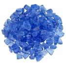Medium Light Blue Fire Pit Glass - 10 lb Bag