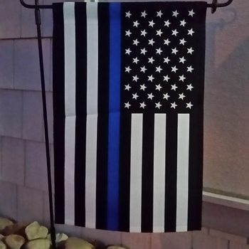 thin blue line american garden flag 125 x 18 inches love my flag