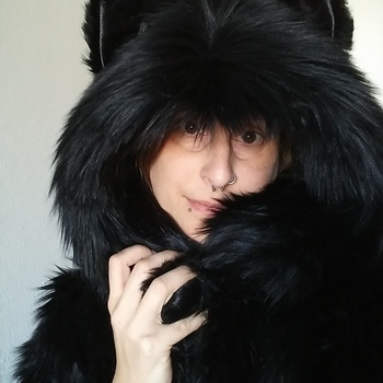 SpiritHoods® Official Website | Black Wolf Faux Fur Coat