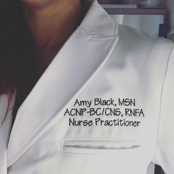 Beautiful Nurse Practitioner Lab Coat Embroidery