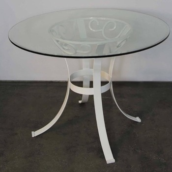 Cool Glass Table Top Inch Round Inch Thick Beveled Tempered Excellent  Product With 48 Round Glass Patio Table Top Replacement