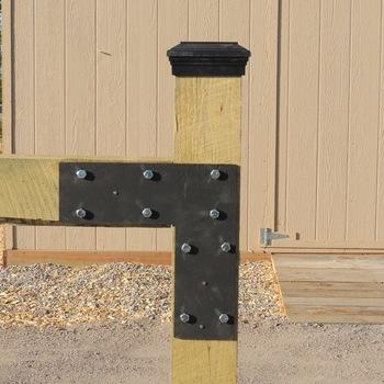 Post Cap Actual Black Flat Top Fence Post Cap Atlanta