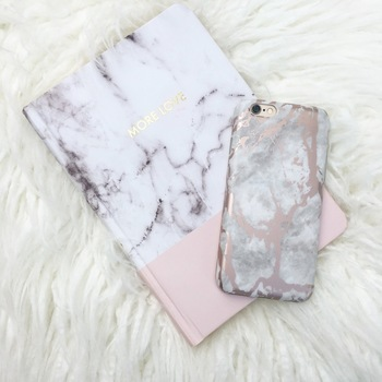 White Marble Rose Gold Chrome IPhone Case Excellent