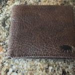 Limited Edition Bison Leather Wallet 100 Handcrafted