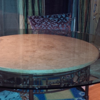 Fab Glass And Mirror Round Clear Glass Table Top With 1u0026quot; Beveled Edge  Tempered Elegant