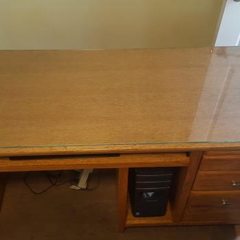 36quot Custom Replacement Glass My Computer Desk Refubrishing