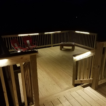 Odyssey led strip light by aurora deck lighting double deck in grove city pa