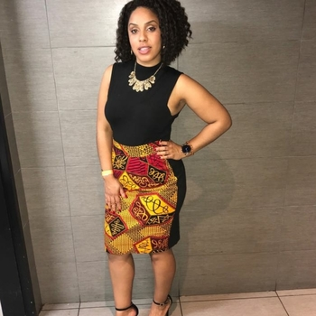 efe redyellow african pencil skirt clearance beyond expected