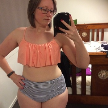 4d068e581e Seaside Gale Falbala High-waisted Bikini Set I adore this!