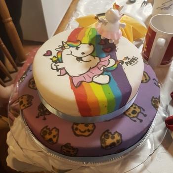 Pummeleinhorn Auf Leckerer Kekse Torte Deinetorte De