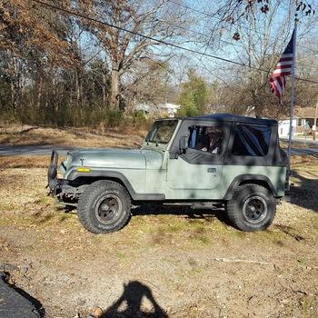 Jeep Wrangler YJ Replacement Soft Top | Black (87 95   Half Steel Doors