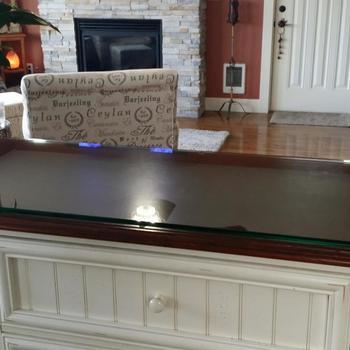 11 3/4u0026quot; X 11 11/16u0026quot; Custom Glass Table Cover Large