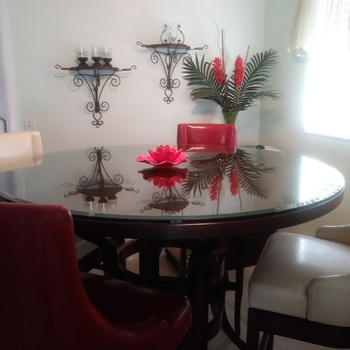 Clear & Colored Round Glass Table Tops Round Glass Dining