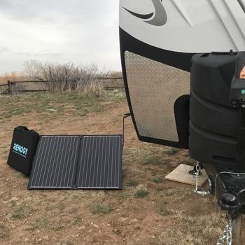 Renogy 100 Watt 12 Volt Monocrystalline Foldable Solar Suitcase with Adventurer Renogy 100Watt 12V Foldable solar suitcase