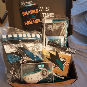 befc135dbd6 San Jose Sharks FANCHEST 3 Sharks Fan Chest