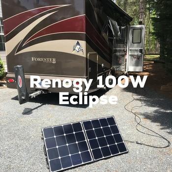 Renogy 100 Watt Eclipse Monocrystalline Solar Suitcase Happy Camper