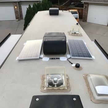 Renogy New 200 Watt 12 Volt Solar Premium Kit Good Product and Easy Install