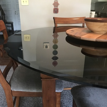 Colored Round Glass Table Tops Colored Glass Table Top