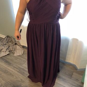 86eadc5705392 Mackenzie in Chiffon High Neck Bridesmaid Dress | Revelry