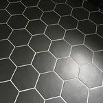 Hexagon Black 17.5x20cm