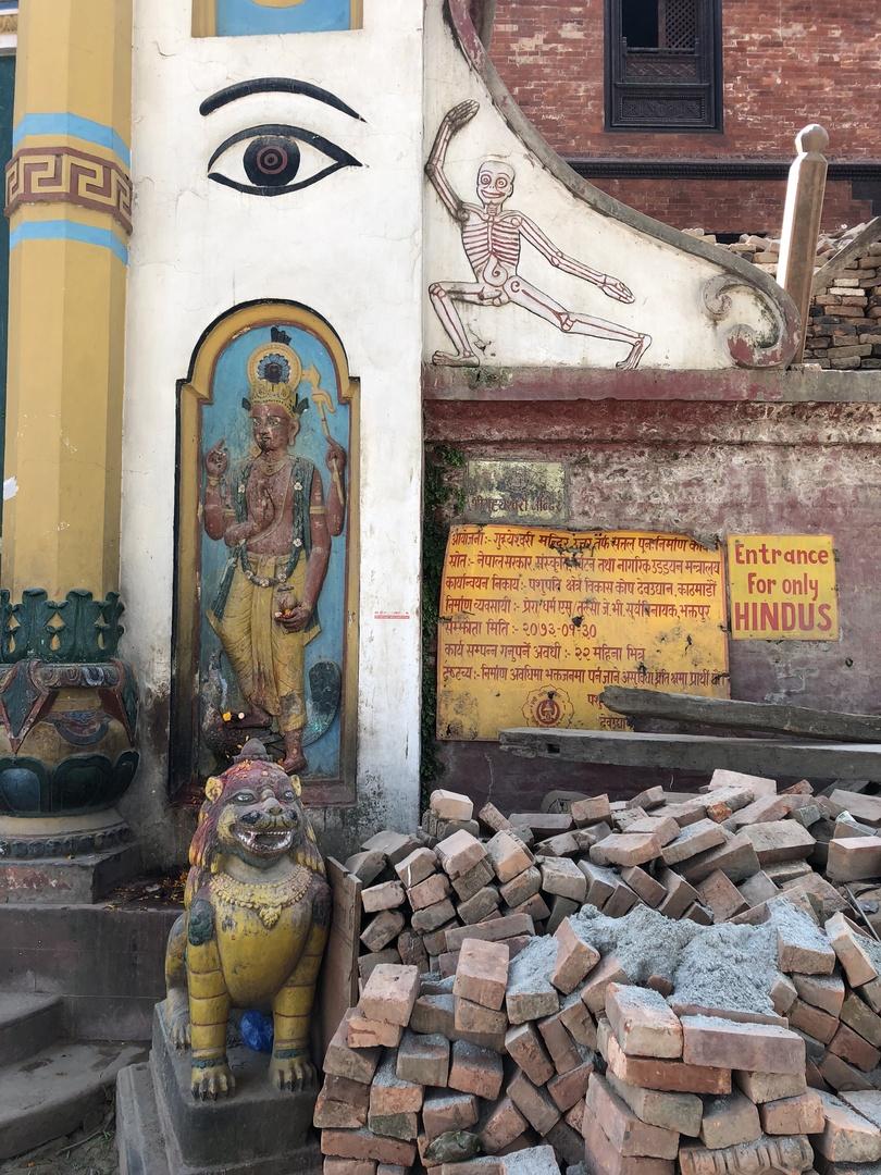 パシュパティナート寺院に参列するヒンドゥー教徒、バグマティ川での火葬...生と死に対する異なる価値観を感じました。