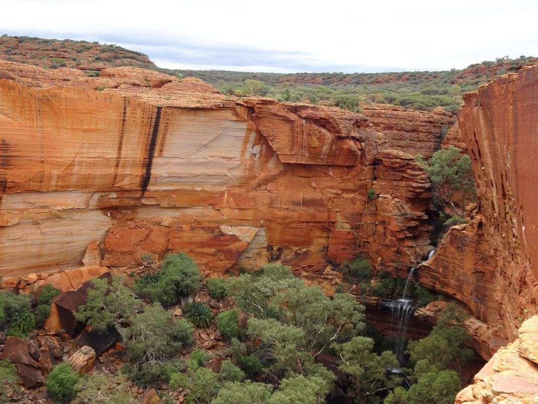 アメリカのグランドキャニオンのような岩山でした。砂漠の中にいきなり現れた岩山を登ると頂上には泉、滝があり植物、鳥がたくさんありました。驚きでした。もう少し長いハイキングがあればよかったです。