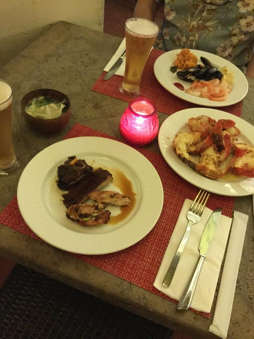 ガーデンバーベキューの雰囲気も良く、 お料理は 大変満足のいくお味 大きなエビテールに 感激でした! ドリンクもこまめにサービスされて ノーストレスでショーを堪能できました! ありがとうございました!