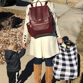 Burgundy Classic Diaper Bag Best Diaper bag for 2 kids f3ab0d4177d52