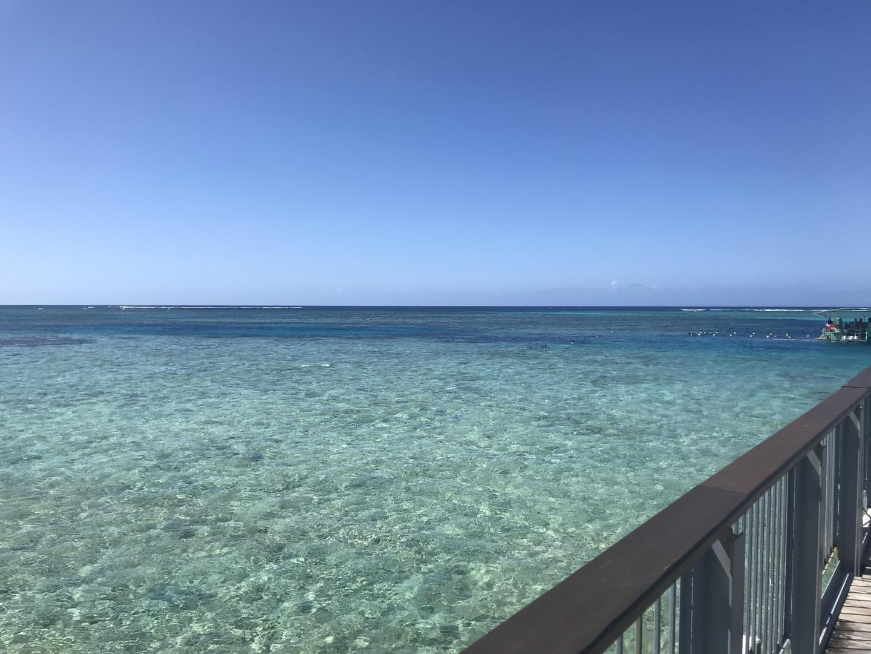 風が少し強いとのことでカヤックができず、少し残念でした、。 しかしとても晴れており、海はとても綺麗で透明で視界もとても良好でした! ハガニア近くでタモンに帰る途中でkマートにおろしてもらっている方もいました。とても時間を有効に使えるのでおススメです!