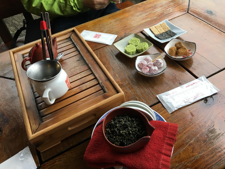 おススメのお茶のお店がよかった。 アドバイス通り、九份到着直後に入店。 美味しいお茶をゆっくり堪能できた。