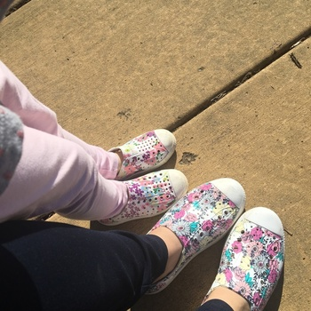 I bought matching shoes for