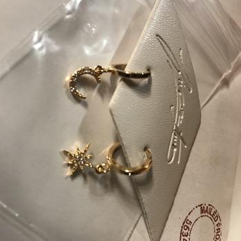 6f06cb6c7 local eclectic | Chloe Star and Moon Hoop Earrings