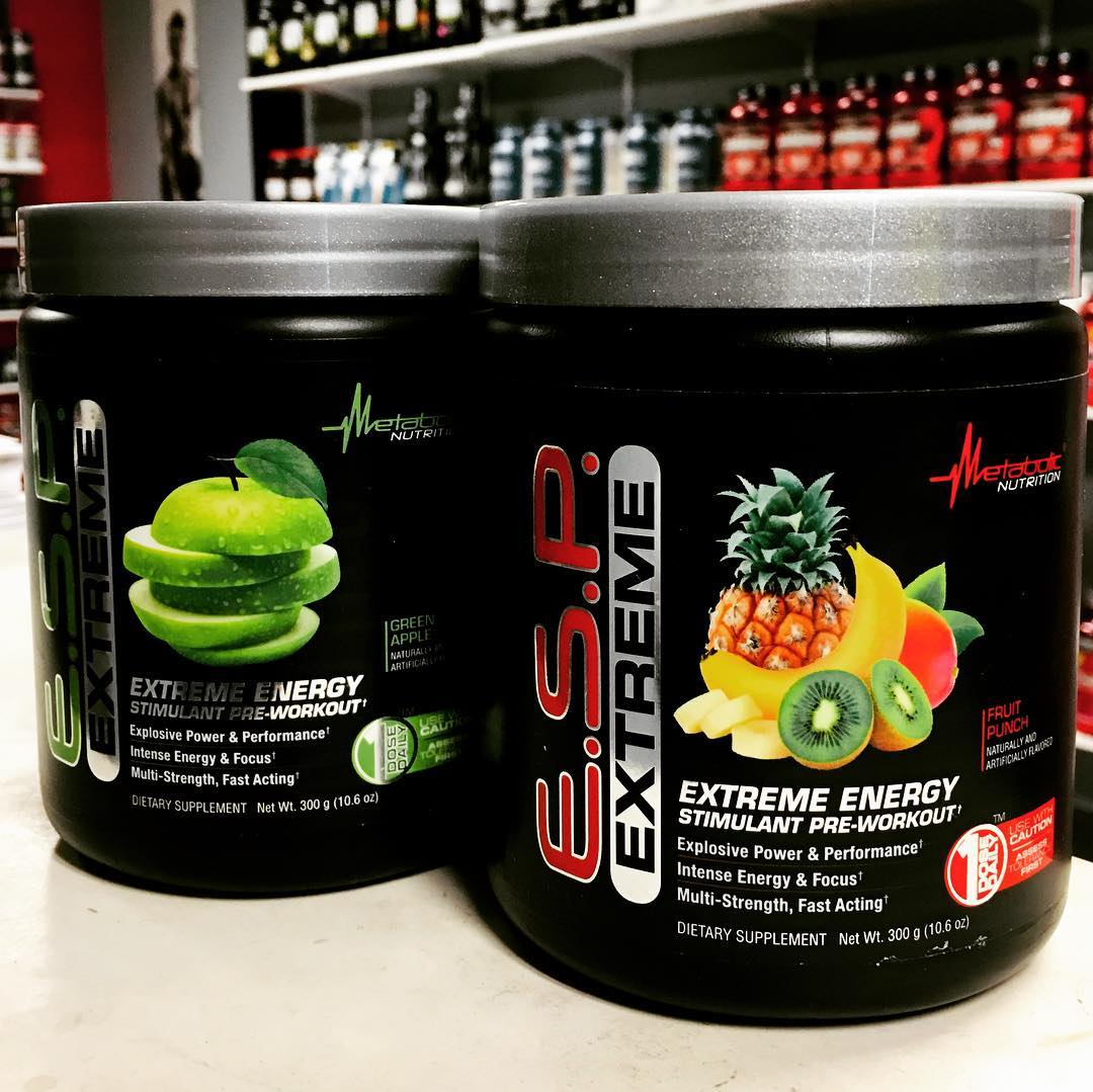 metabolicnutrition E.S.P. Extreme is formulated to give you explosive power and tunnel vision focus! ⠀ 💥Available in 4 mouth watering flavors 🤤💥⠀
