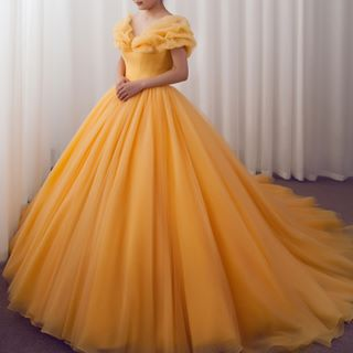 Princess Court Train Tulle Quinceanera Dress Ld3454 Cocomelody