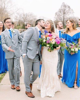87d256962b7f8d Feeling the love with this wonderful photo by @abbiemaephotography  Bridesmaids in style 8190 in Cornflower