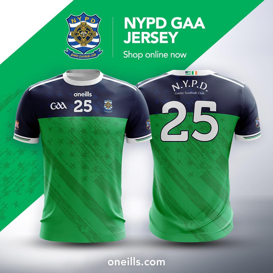 8be57fb3c New  The 2019  nypdgfc jersey from  oneillssportswear. oneills.com