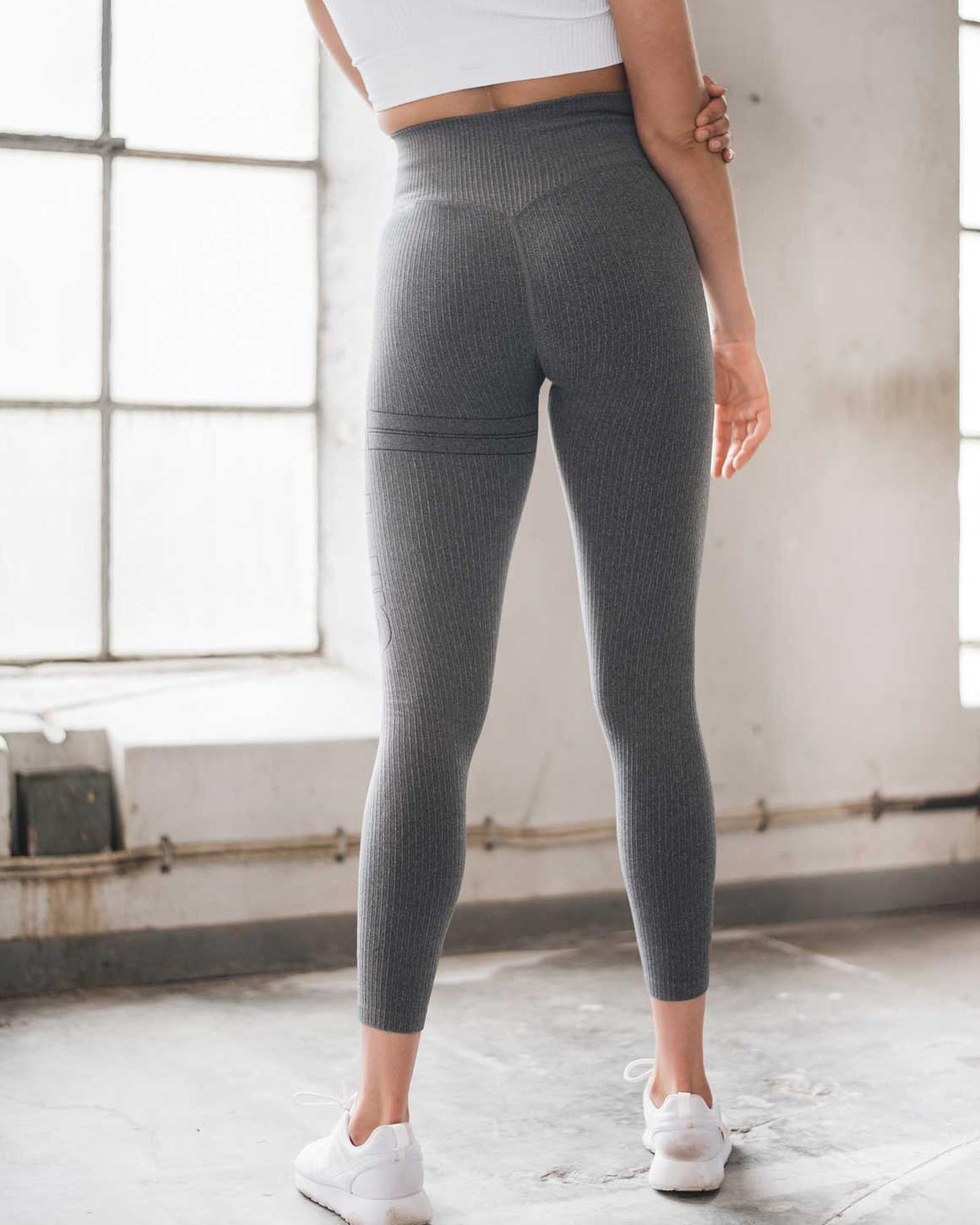 218fa60cf085b8 BACK IN STOCK 😍🙌 The Grey Ribbed Seamless Tights sold out so fast last  time