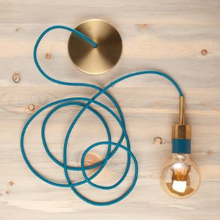 Fabric covered electrical cord and diy lighting supplies this aegean fabric wire has us dreaming of the aloadofball Gallery