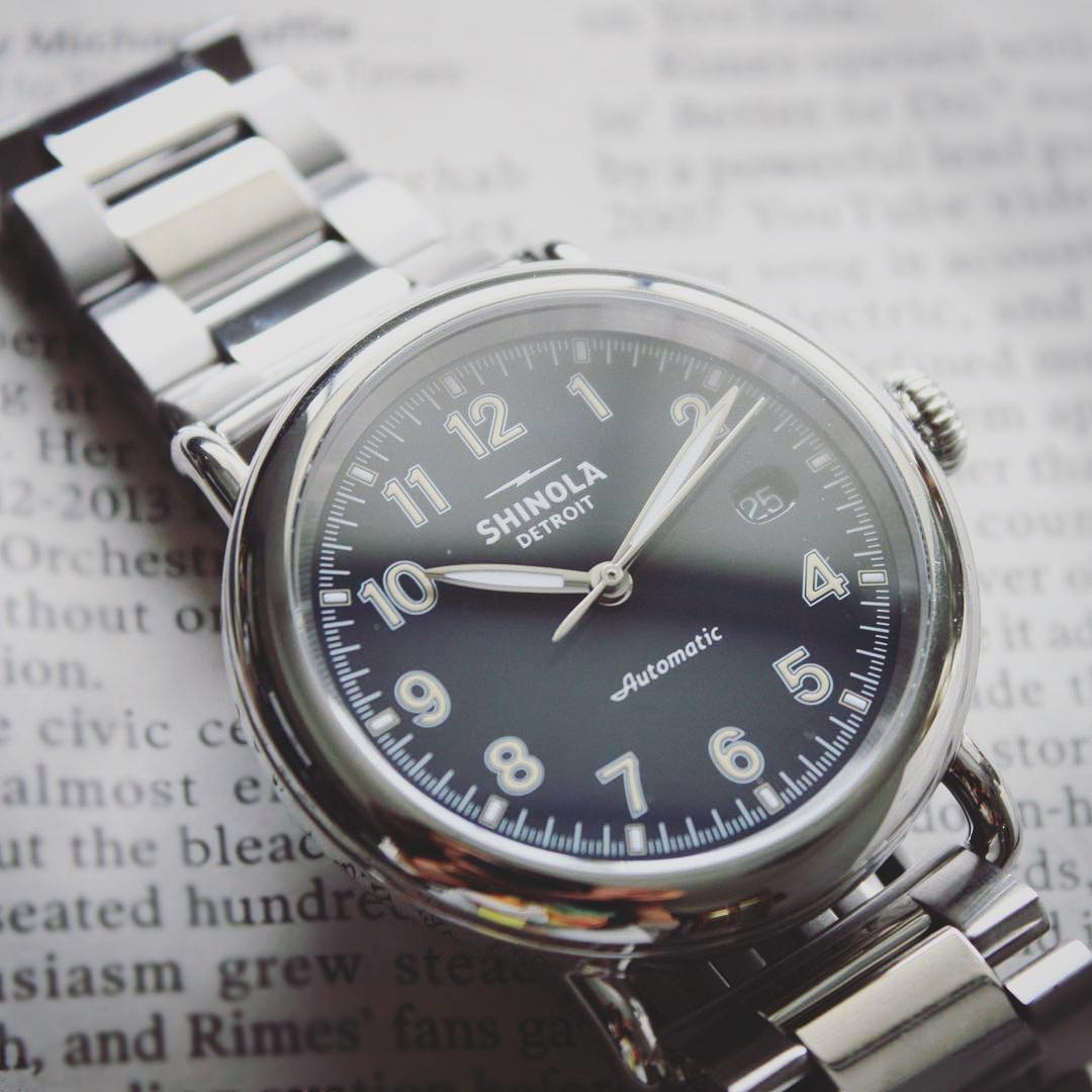 af23dbfcaa7 The Runwell Automatic works hard—and that s no secret. The caseback s domed  design features