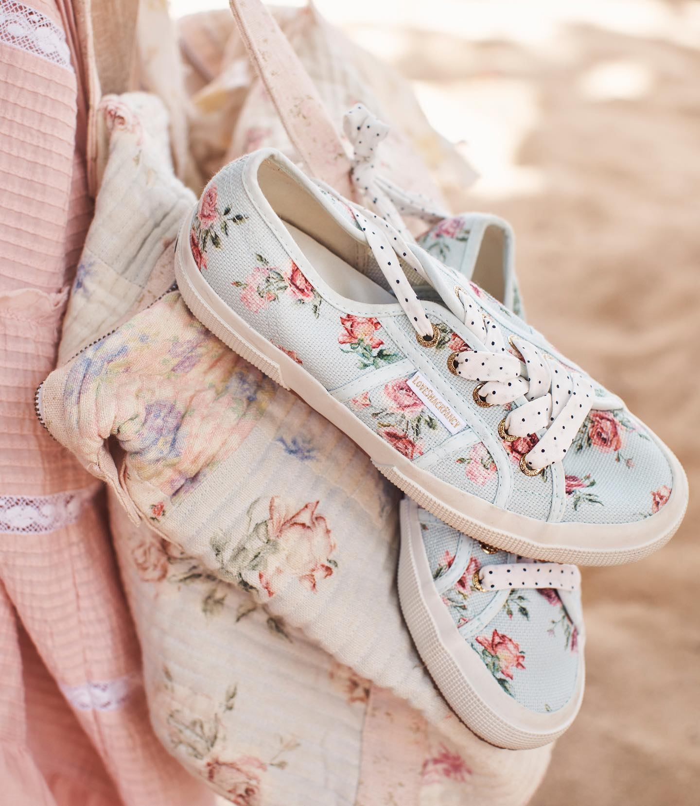 uk availability 0d3bc 694ac Superga X  loveshackfancy are the final feminine touch for any Summer look  ☀ Tap