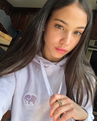 c161737d @mariaisabel in the amethyst organic cropped hoodie 💜 #IEforME