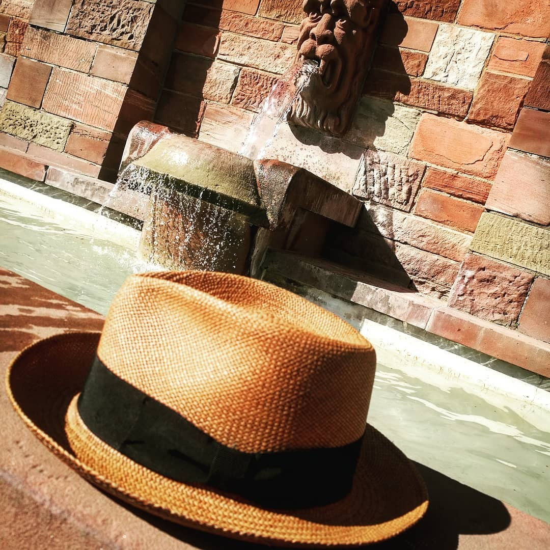 f9db0ac8035bb This brisa weave straw hat begins as a hand-woven body in Ecuador and is