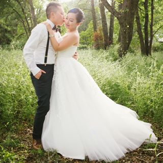 A-Line Court Train Tulle Wedding Dress LD4905   Cocomelody