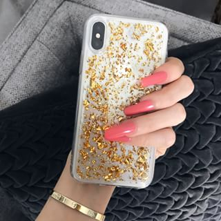 Wear your sparkle wherever you go ✨💫 The gold glitter flakes case is  finally back 35e23c5c6