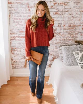 8040641408 The perfect Fall sweater DOES exist! An oh SO cozy cowl neck for cold Fall